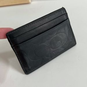 Coach Leather Card Holder Wallet